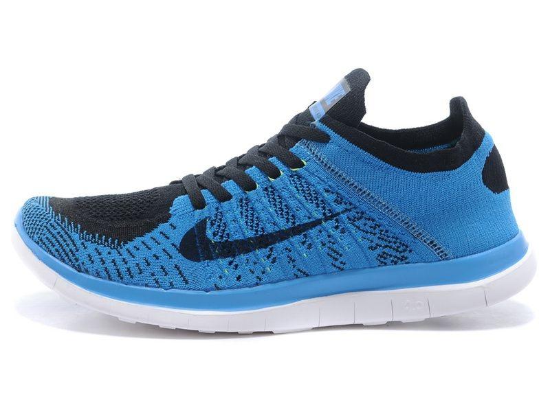 085831de7ab Tênis Nike Free 4.0 Flyknit - Masculino - Azul e Preto TÊNIS RUN - Running  Performance Shoes